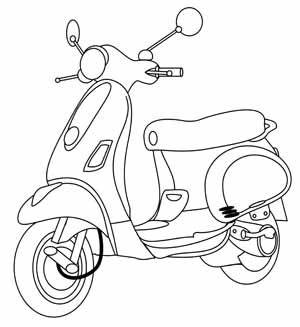 Free Scooter Digital Stamp Set Carimbos Digitais Desenhos De