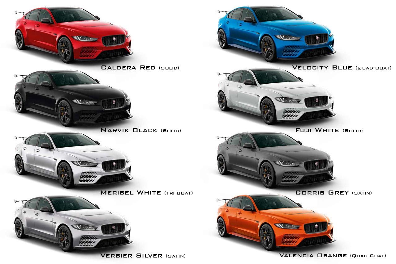 2018 Jaguar Xe Sv Project 8 Colours Jpg 1280 855 Jaguar Xe Jaguars Jaguar