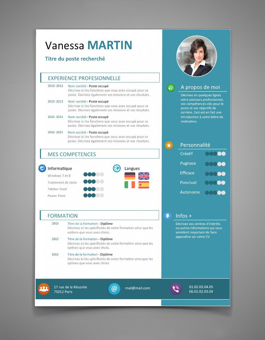CV Original - CV 42 | Maxi CV | EDUCATION, JOB, PERSONALITY ...