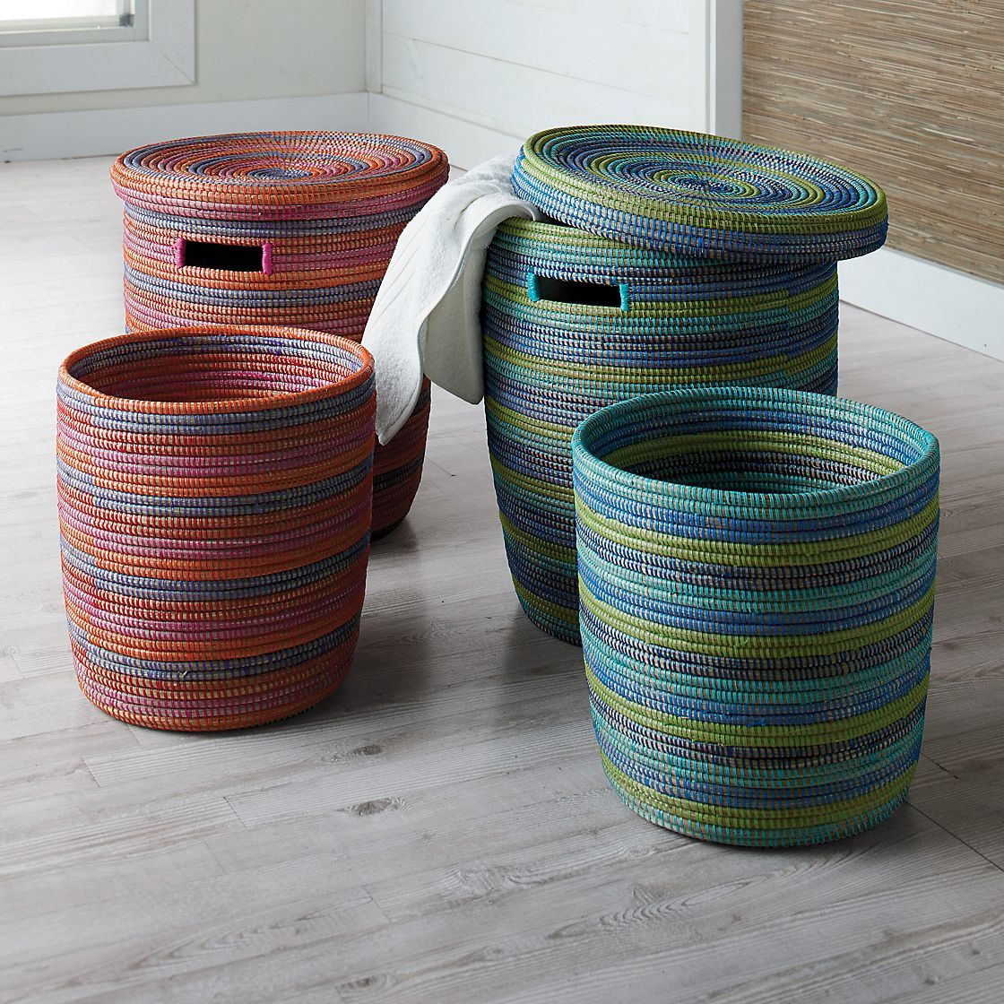 African Woven Baskets: Fair Trade Basket Set By The Company Store. Hand-woven By