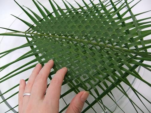 Two Woven Palm Leaves Ready To Design With Techniques