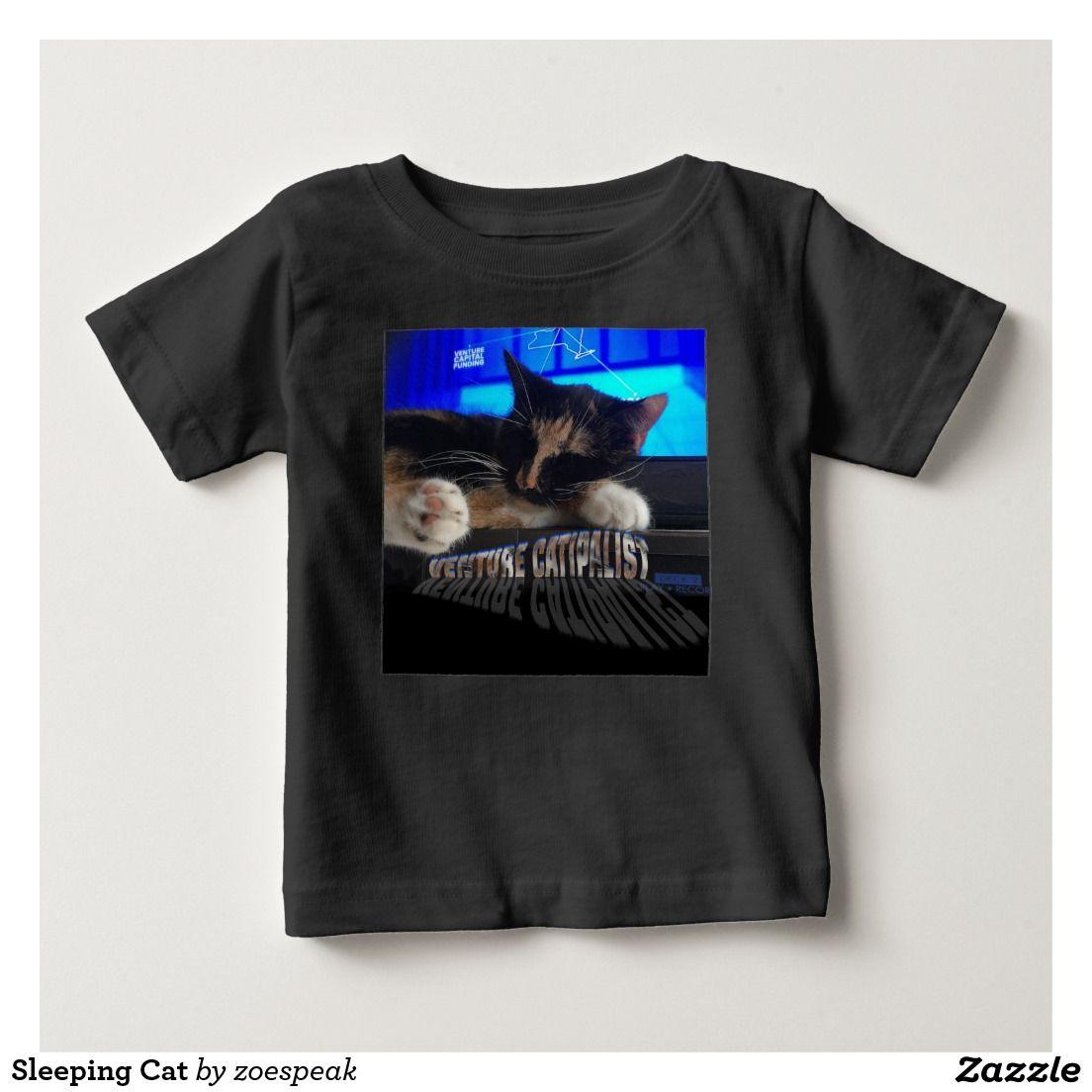 Venture Catipalist Sleeping Cat Baby T-shirt from ZoeSPEAK.