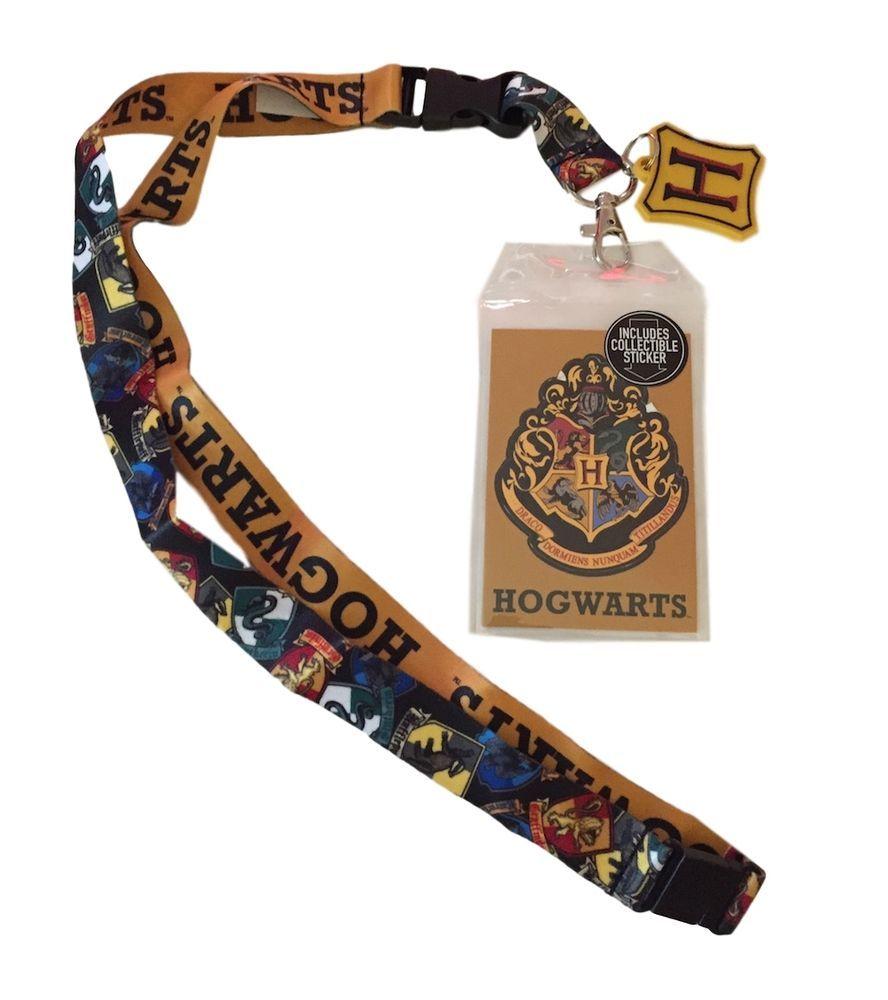 Harry Potter Hogwarts Lanyard with ID Holder /& Charm New