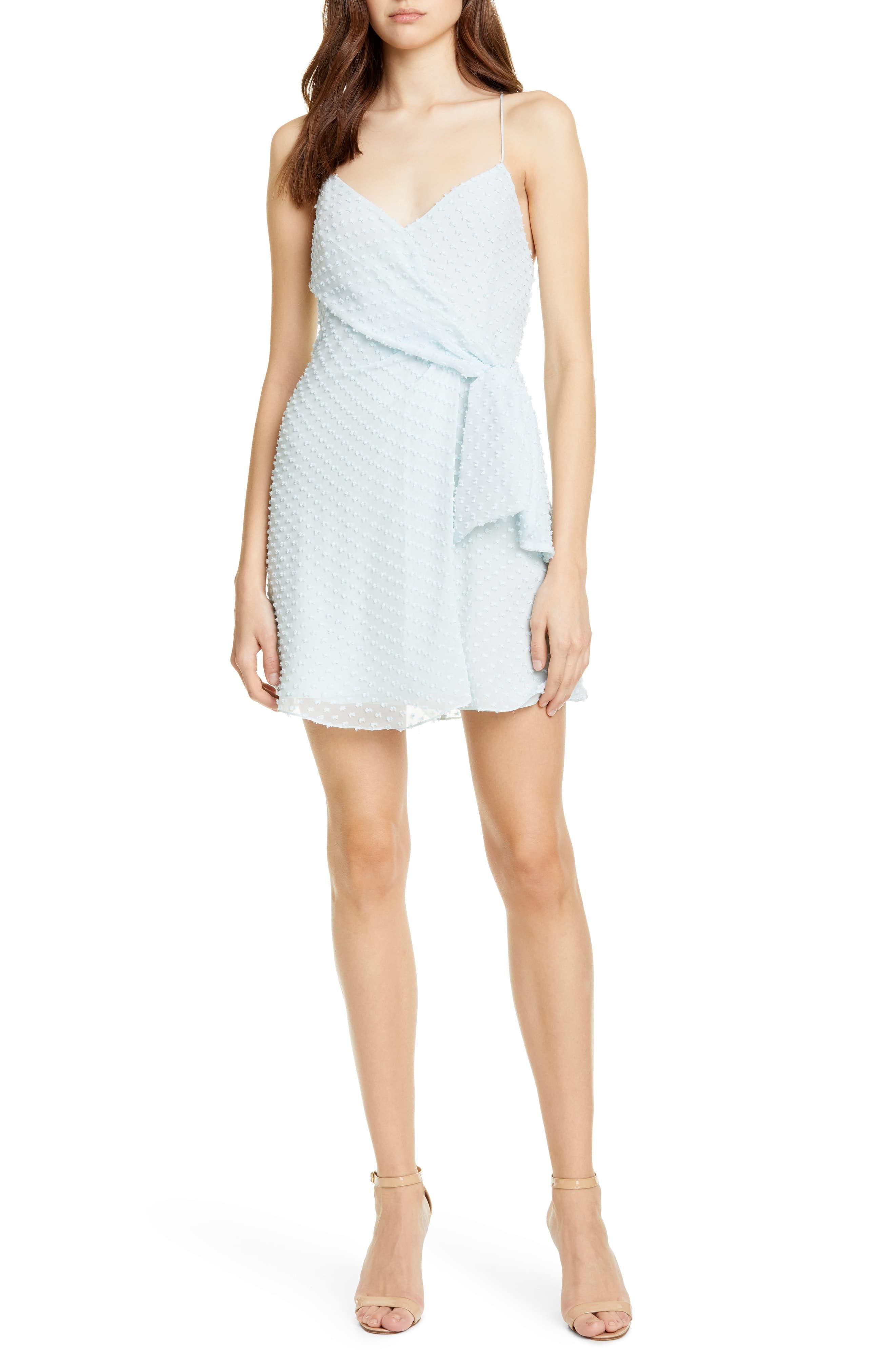 Women S Alice Olivia Katie Faux Wrap Minidress Size 6