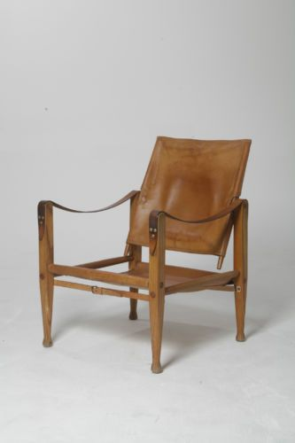 Beautiful Authentic Vintage Kaare Klint Safari Chair