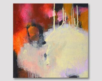 Original textura pintura abstracta arte moderno por ARTbyKirsten