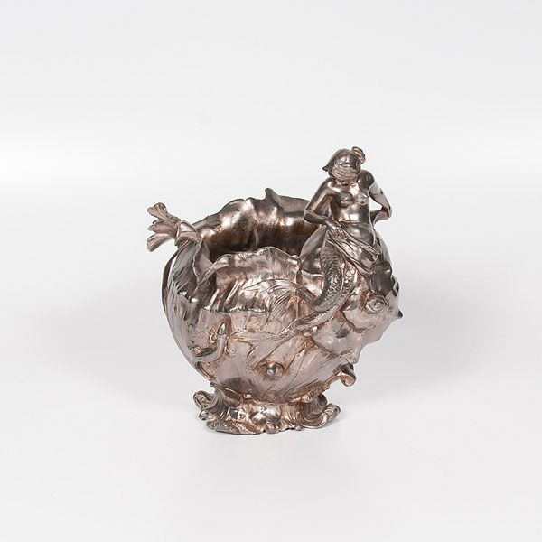 Silverplate Art Nouveau Vase (9/6/2014 - Cleveland Inaugural Auction: Live Salesroom Auction)