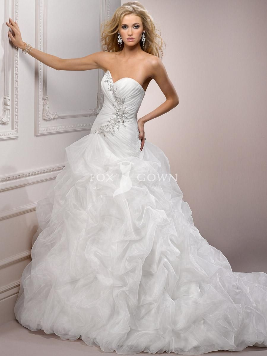 Inspiration for natalie 39 s first wedding gown from fox for Sweetheart neckline drop waist wedding dress