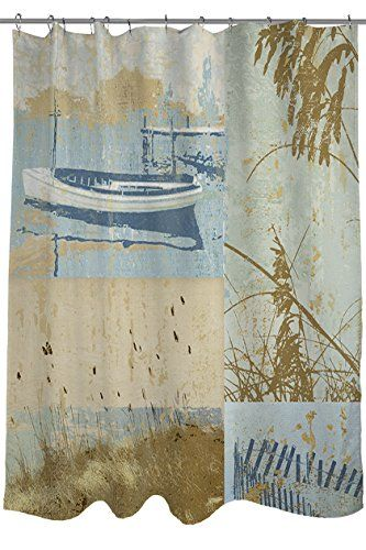 Thumbprintz Shower Curtain Coastal Moments