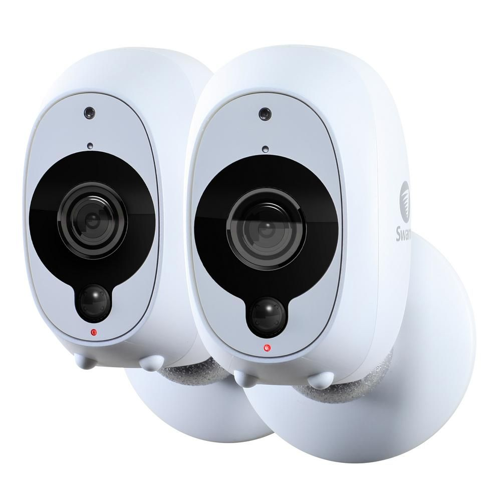 Swann Smart Security Camera Battery Powered Wireless 1080p Full Hd Surveillance Video Camera 2 Pack Swwhd Intcampk2 The Home Depot Outdoor Security Camera Wireless Home Security Home Security Systems