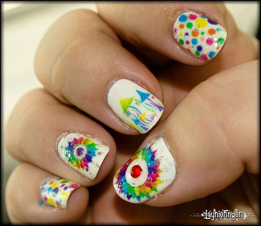 nails art multicolor | ongles | Pinterest