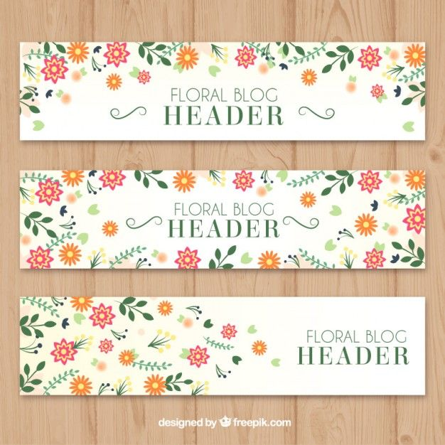 Download Cute Floral Headers Set For Free