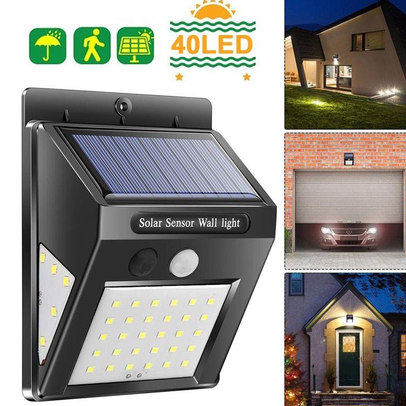 Street Lamp Walkway Lights Home Security Lamp Solar Motion Sensor Eco Friendly Wall Light Durable Ligh Outdoor Solar Lights Outdoor Wall Lamps Outdoor Lighting