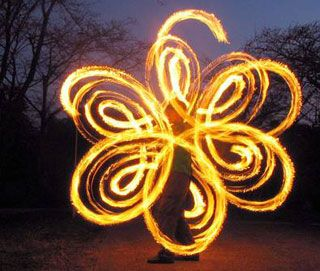 Fire poi - a.k.a Fire dancing. I would love to try do this one day, an amazing visual art.