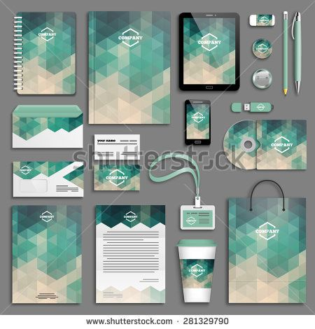 Corporate Identity Template Set Business Stationery MockUp With
