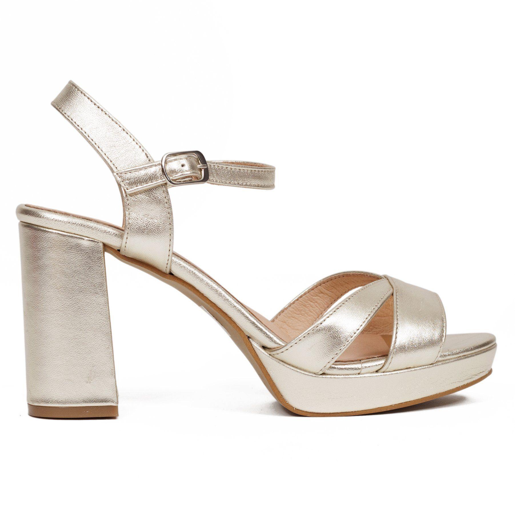 089167cf83b Sandalia plataforma con tiras de piel Dorado - miMaO Spain – miMaO  ShopOnline