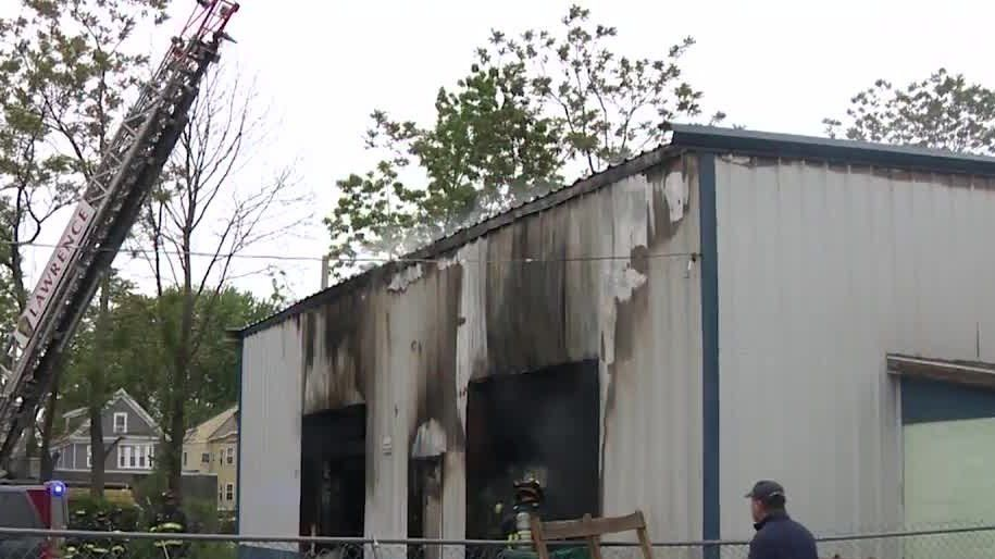 3 buildings damaged, 6 people have been displaced by a fire in Lawrence Monday morning