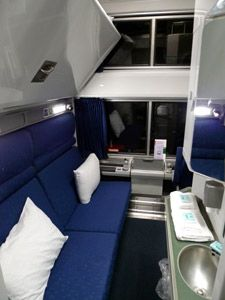 Amtrak Viewliner Bedroom In Daytime Mode Trains Cablecars Pinterest Train Travel