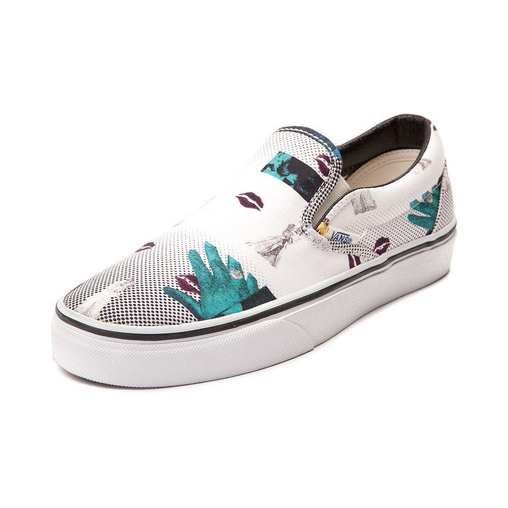 c00c67ea7c VANS - NEW Van Doren 80 s Lips Casual Skate Canvas Slip On Sneakers Shoes  9.5  Vans  LoafersSlipOns