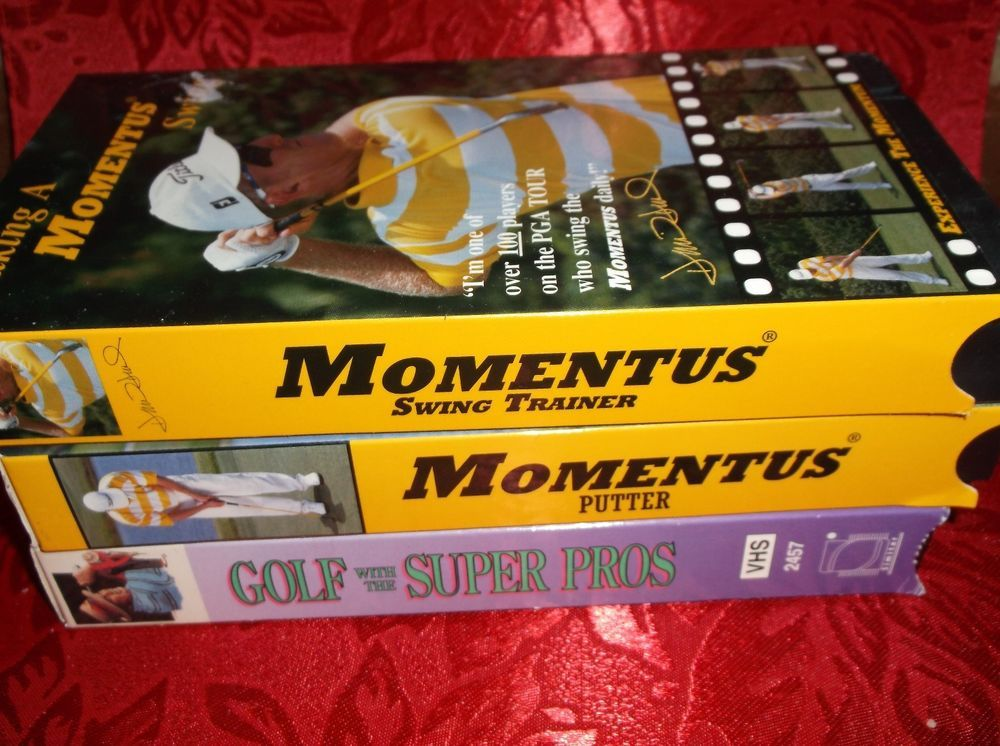 Golf Instruction VHS Tapes Lot Of 3 Golf With Super Pros Momentus Putter & Swing