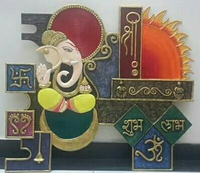 Sri Ganesh Art N Craft Clay Wall Art Mural Art
