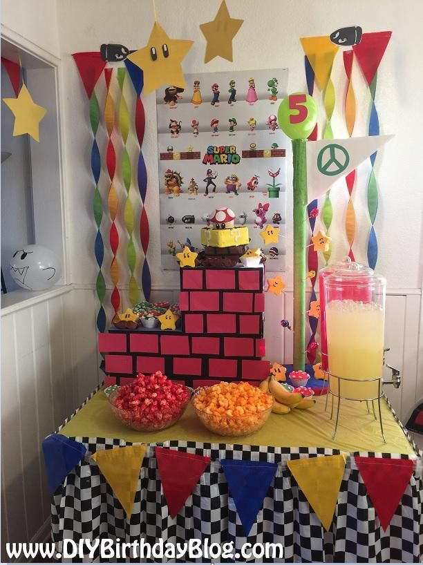 Super Mario Brothers Birthday Party by DIY Birthday Blog Party by