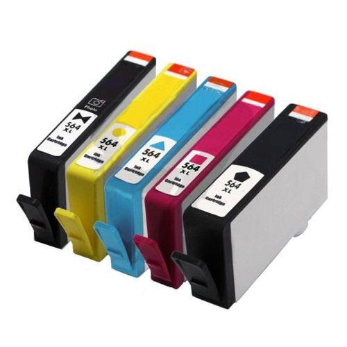 5pk Ink Cartridges Compatible For Hp 564 Xl Photosmart C5324 C5380