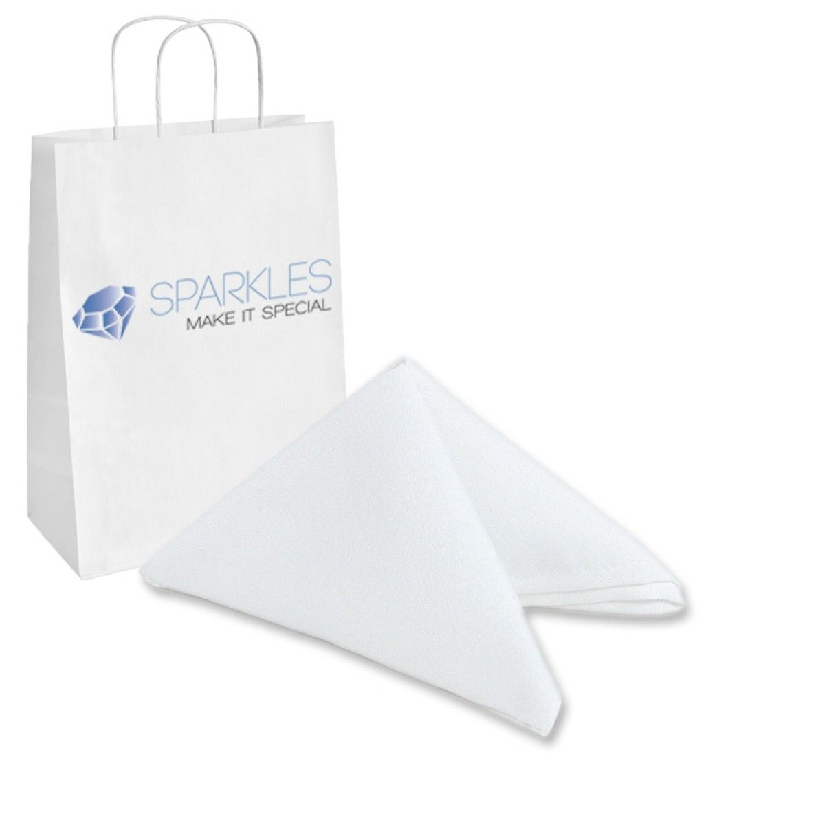 White Table Napkins Polyester Cloth Washable Dinner Party Decor Napkin 17x17Inch