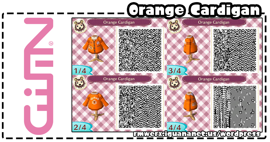 Pin by SetsuP on ACNL Orange cardigan, New leaf, Animal