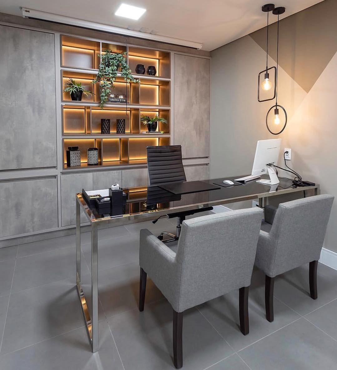 Top 30 Stunning Office Style Homeoffice365 Homeofficechairs Homeofficeorganization Homeoffi Modern Office Interiors Home Office Design Office Furniture Decor