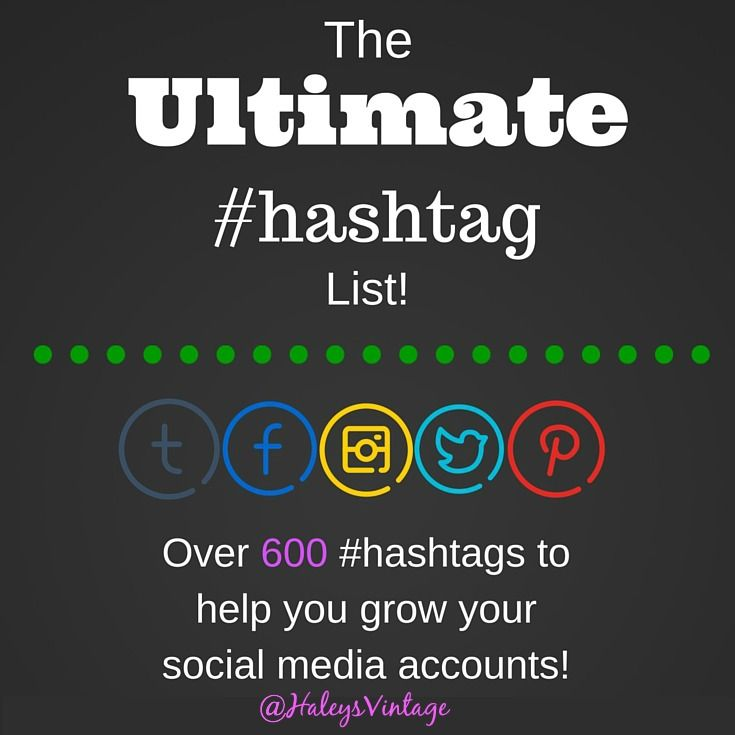 Ultimate Hashtag List - Everyone wants to maintain an amazing social media presence, but you need to develop an Ultimate Hashtag List! #hashtag