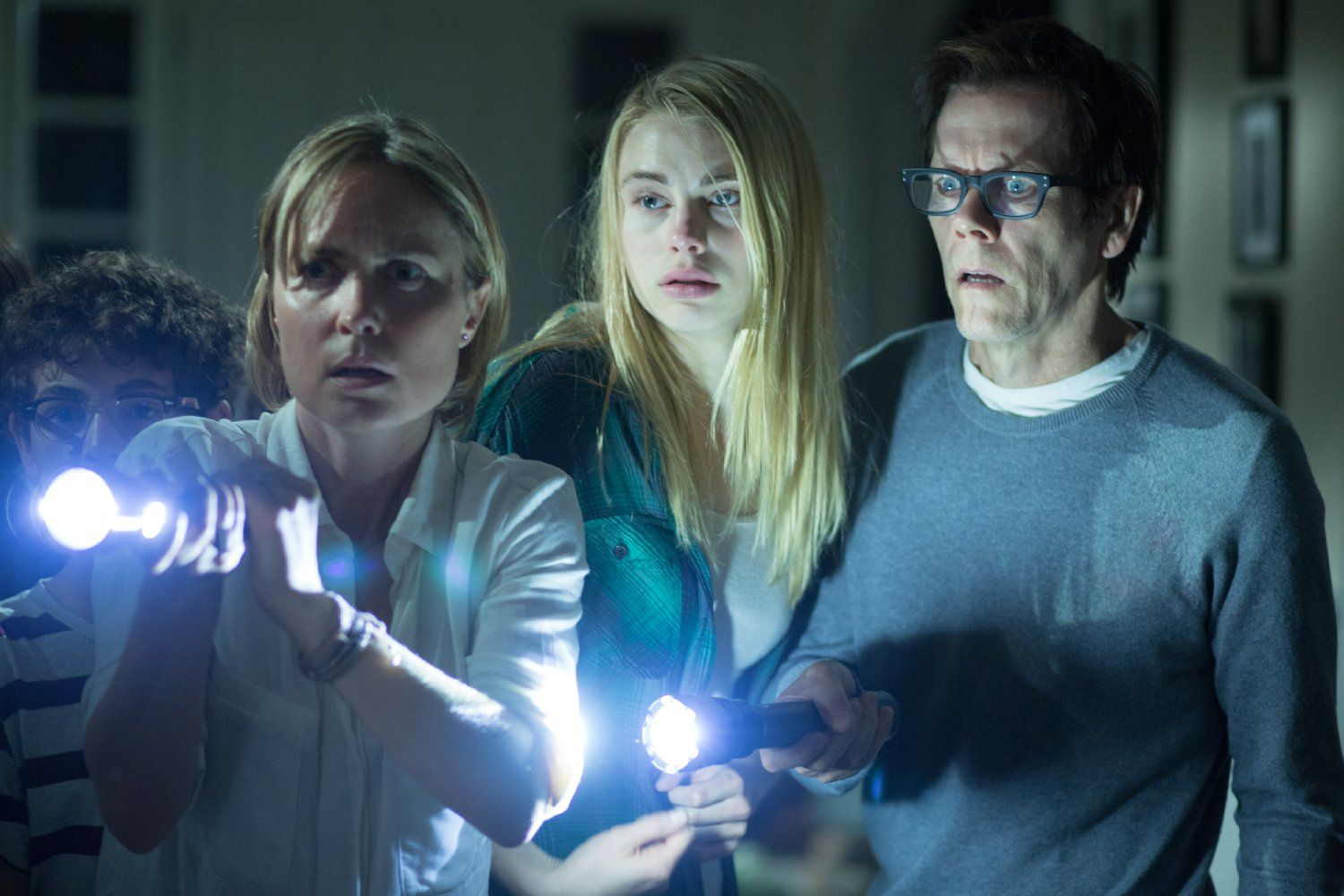 Kevin Bacon, Radha Mitchell, David Mazouz, and Lucy Fry in