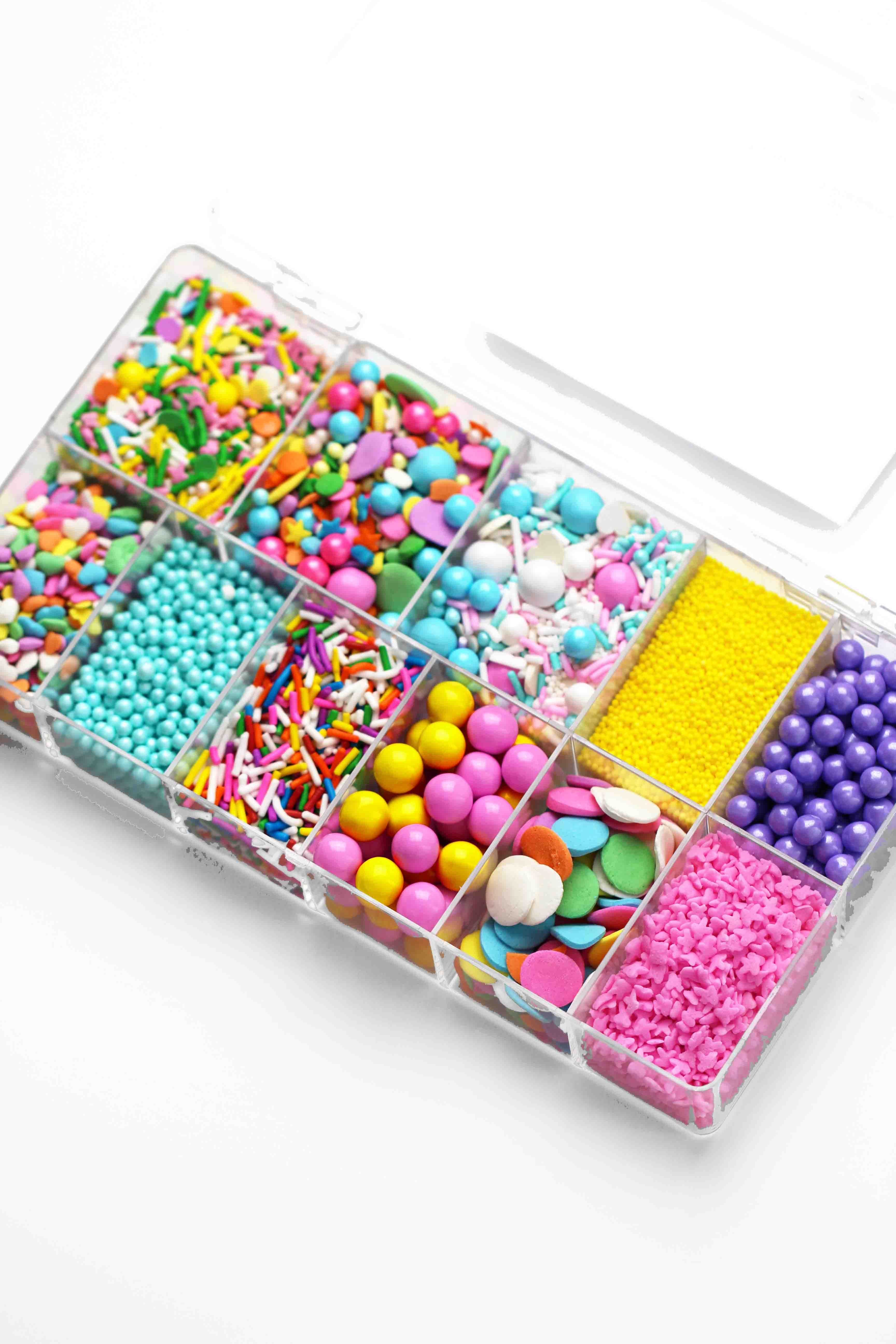 fancy sprinkles pastel april spring sprinkle bento box