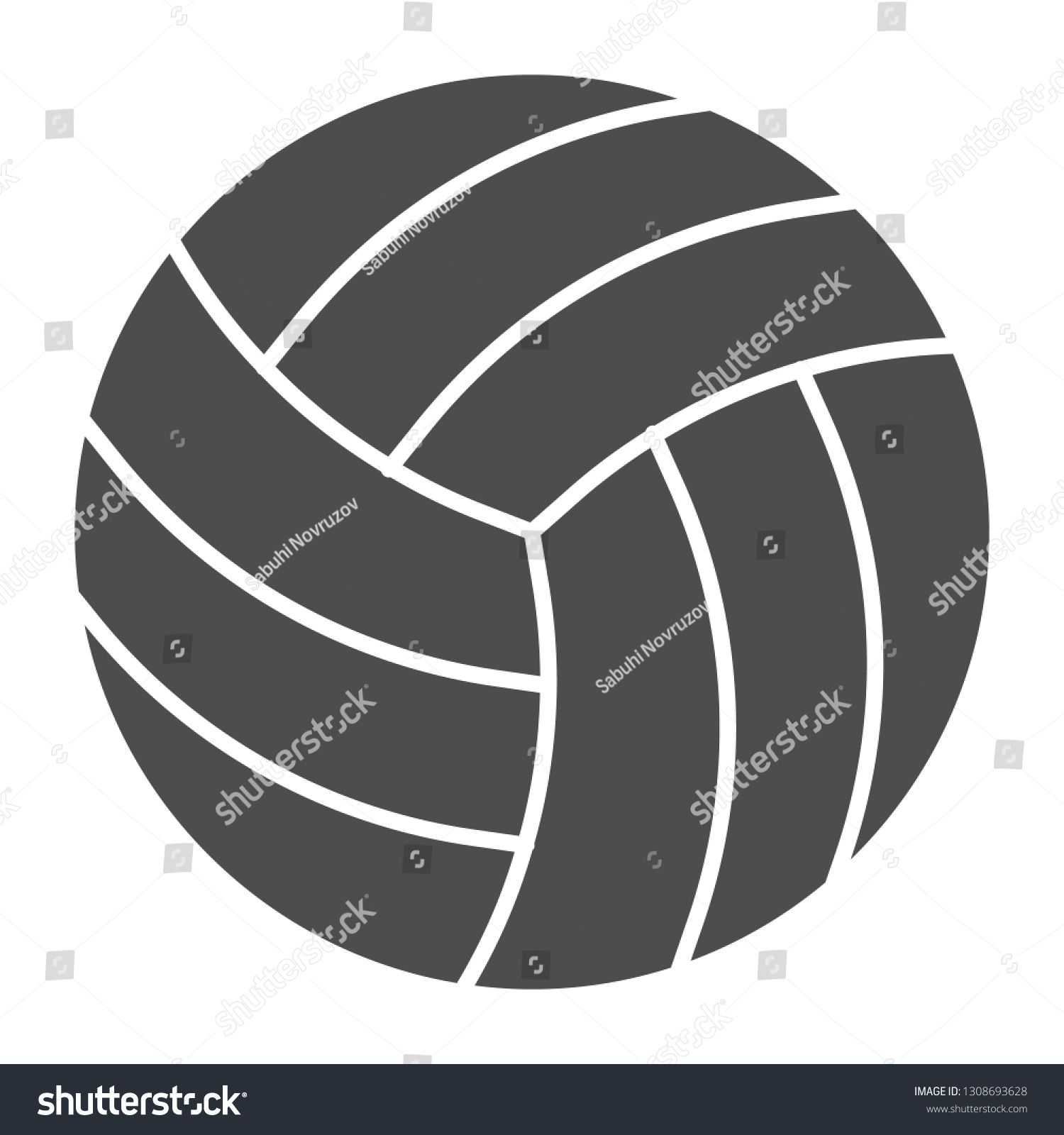 Volleyball Ball Solid Icon Sport Equipment Vector Illustration Isolated On White Game Glyph Style Design Designed For Web And A Sports Equipment Vector Icon
