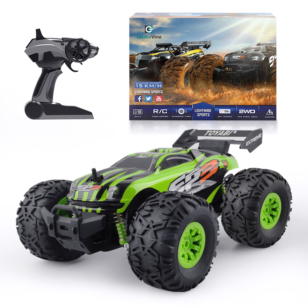 Rc Car 2 4g 1 18 Monster Truck Car Remote Control Toys Controller Model Off Road Vehicle Truck 15km H R Monster Trucks Monster Truck Cars Radio Controlled Cars