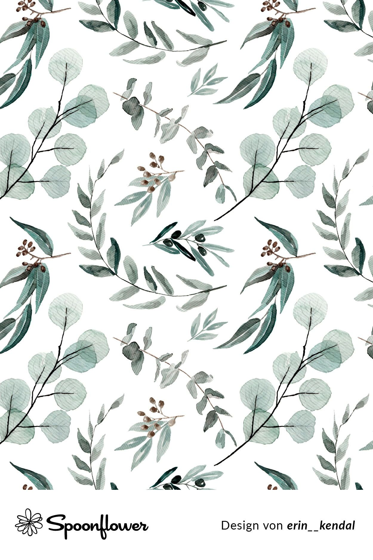 Zweige mit Blättern / Spoonflower