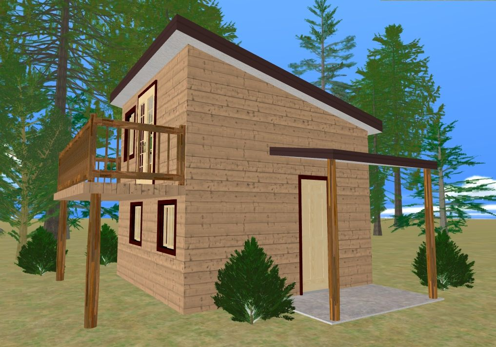 edgemoor cottage blueprints this is my 196 sq ft 14x14 cozy cube outside view with balcony