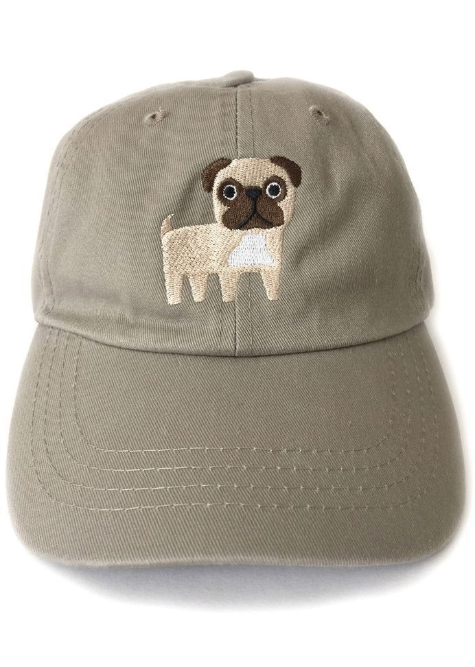 c672a47c5 Pug Embroidered Baseball Cap | laughs | Pugs, Embroidered baseball ...