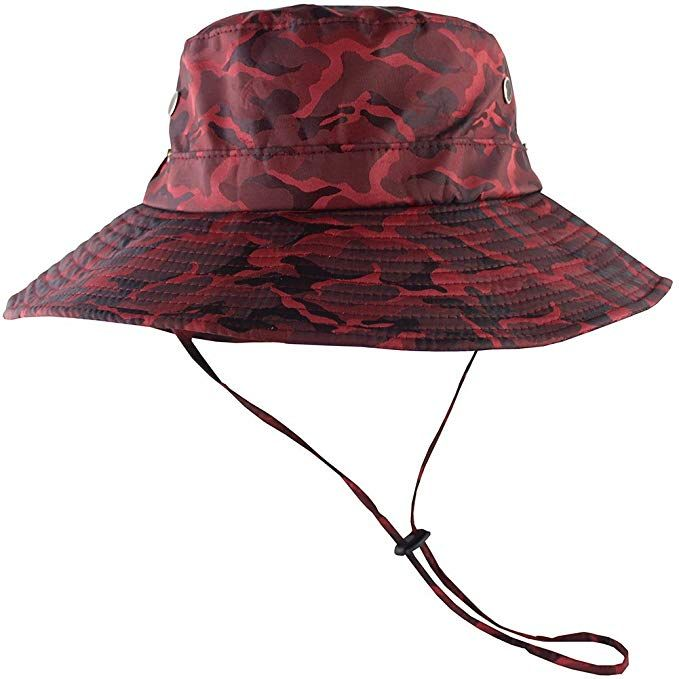 4726531f22e764 Amazon.com : CAMOLAND Camouflage Outdoor Fishing Boonie Hat with Wide Brim  UV Protection Summer