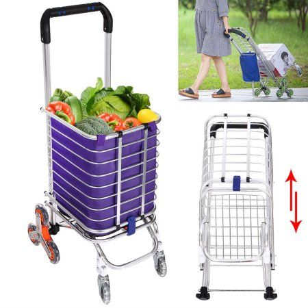 Folding Swivel Wheel Grocery Laundry Cart Travel Shopping Cart Aluminumhdpml Folding Shopping Cart Shopping Cart Laundry Cart