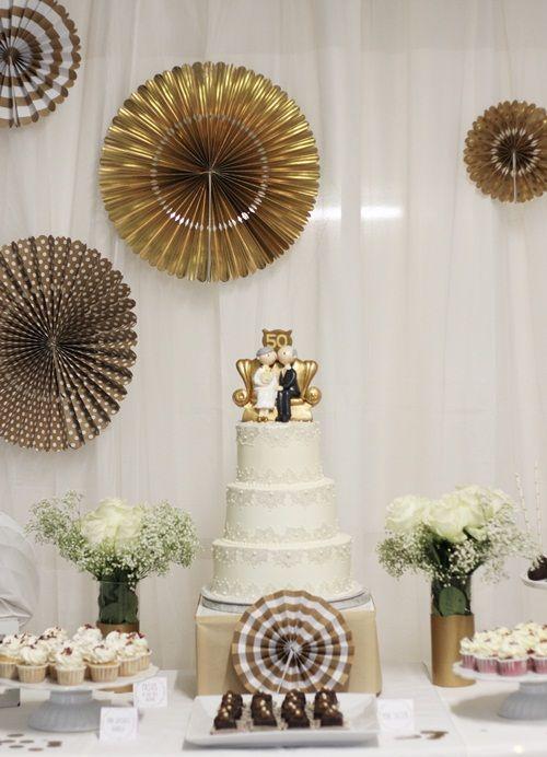 Tarta dulce 50 aniversario de bodas eventos de fiestas for Decoracion para aniversario