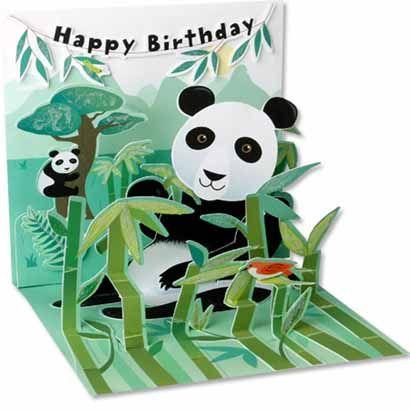 Party Pandas Double Pop Up Gate Fold Box Card Tutorial Box Cards Tutorial Panda Card Fancy Fold Cards