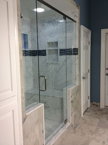 Re Bath Of The Triad Walk In Shower Design Ideas Carrara White W Bench