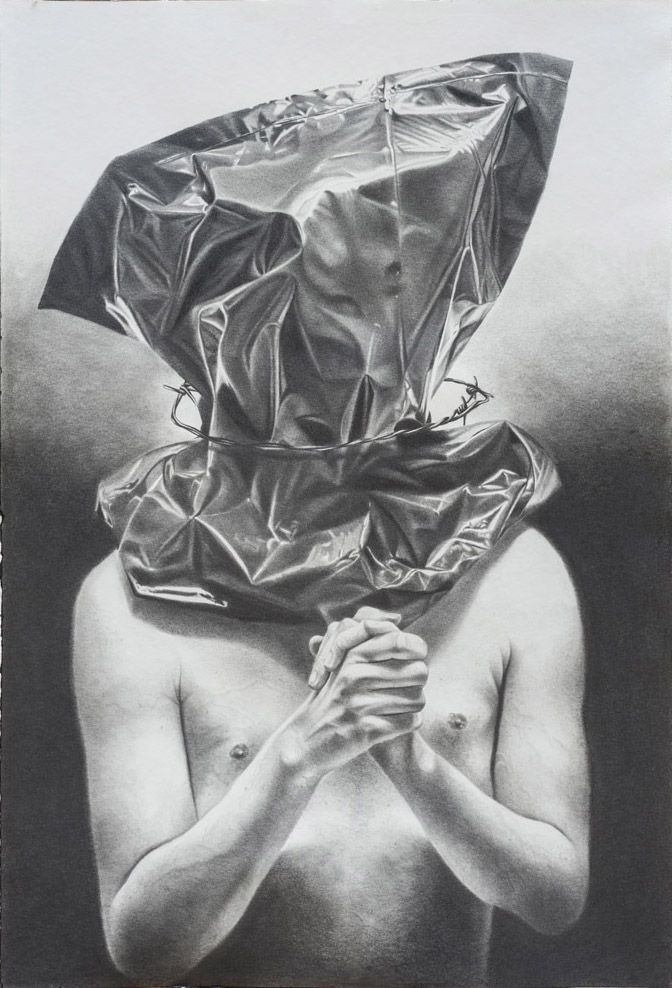 Current exhibition: Philippe Huart – Ceremony / Sacrifice  Philippe Huart, Cérémonie / Sacrifice III 2015, Graphit auf Papier Graphite on paper, 125 x 85 cm