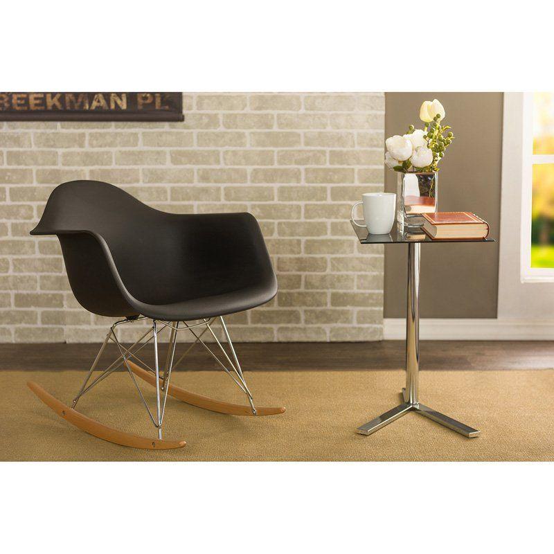Magnificent Baxton Studio Dario Mid Century Rocking Chair Dc 311W Forskolin Free Trial Chair Design Images Forskolin Free Trialorg