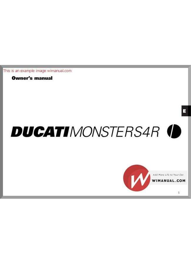 ducati monster s4r 04 owners manual pdf download this manual has rh pinterest co uk ducati owners manual free ducati scrambler owners manual
