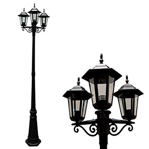Etoplighting Aluminum Outdoor Post Pillar Outdoor Light With 3
