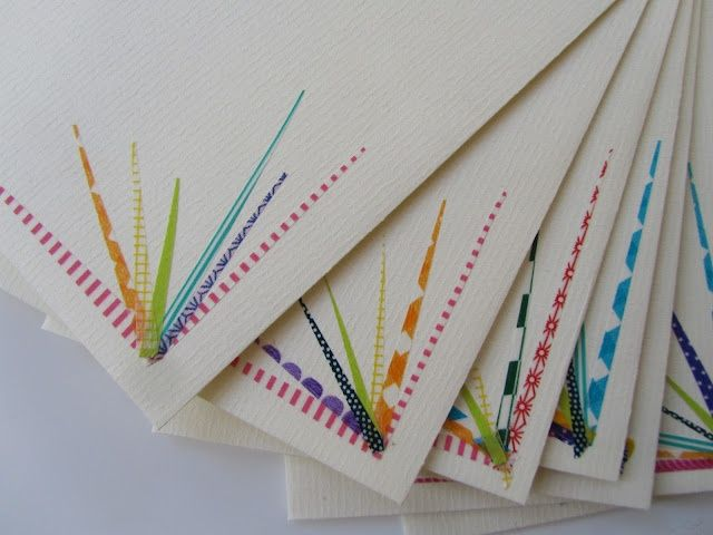 Pretty little corners - good to use up bits of tape