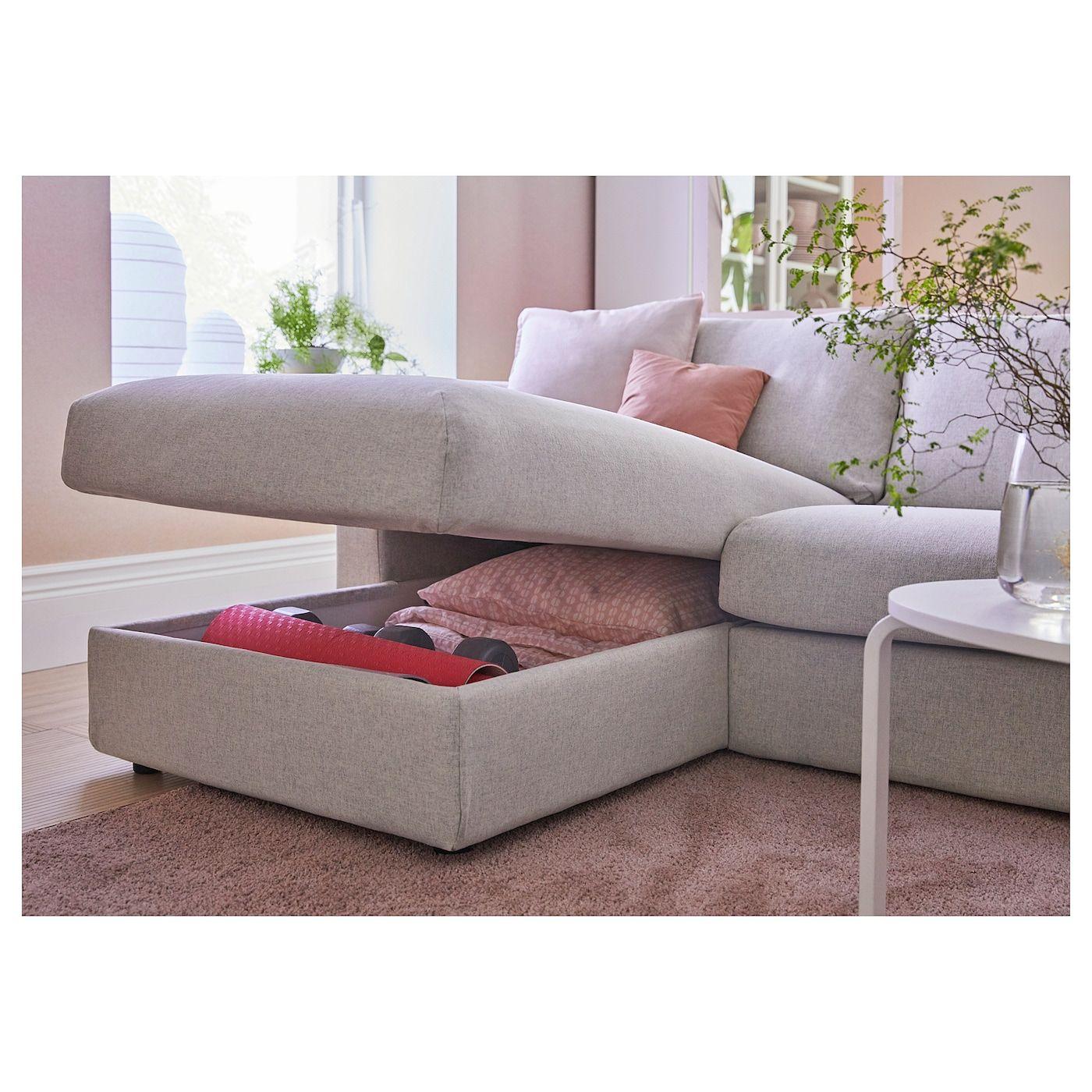 Vimle 3er Bettsofa Mit Recamiere Gunnared Beige Ikea Deutschland Sofa Bed With Chaise Cozy Sofa Sofa Back Cushions