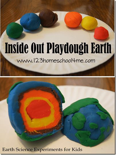 Earth Science Experiments for Kids  Kids will have fun learning about the Layers of the Earth with inside out playdough earth cupcake layers and so much fun with these sc...